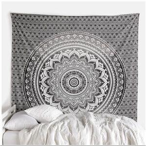 NEW Mandala Tapestry Black Brown Ombré Wall Decor